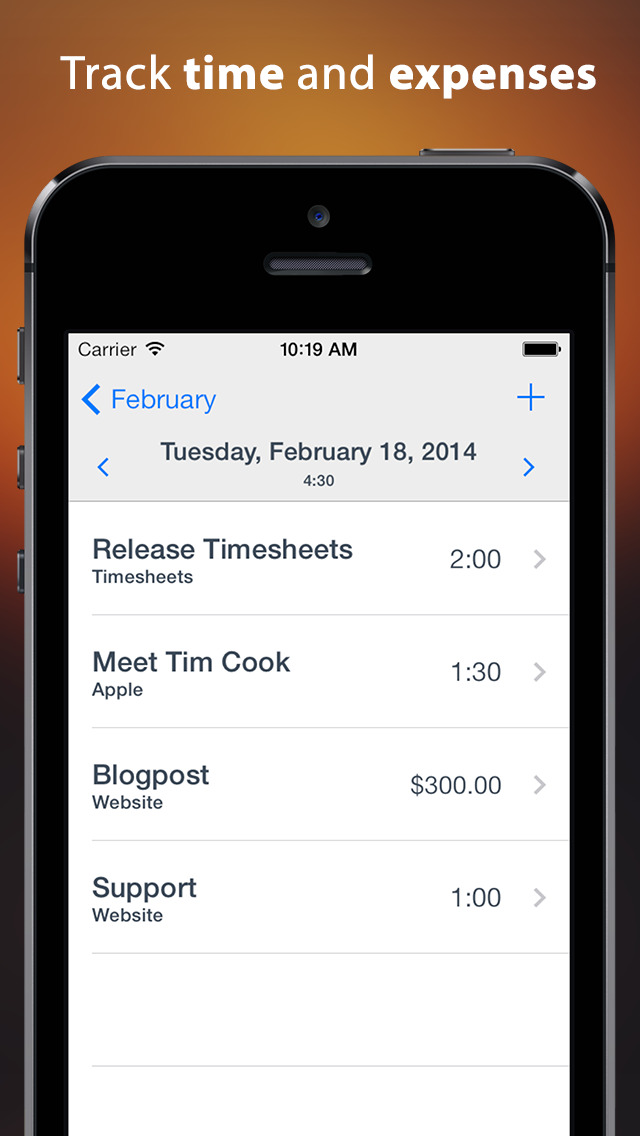 Timesheets ~ time tracker and billing screenshot 1