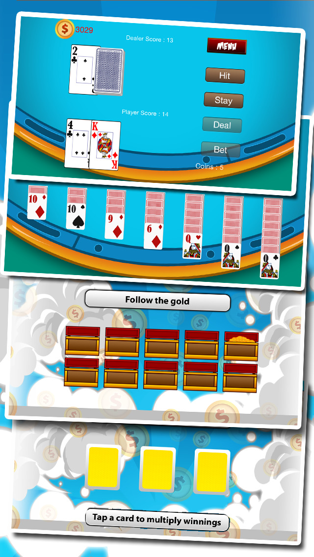 `Ace Lucky Casino Jackpot Gold Slots - Slot Machine with Blackjack, Solitaire, Roulette, Bonus Prize Wheel screenshot 2