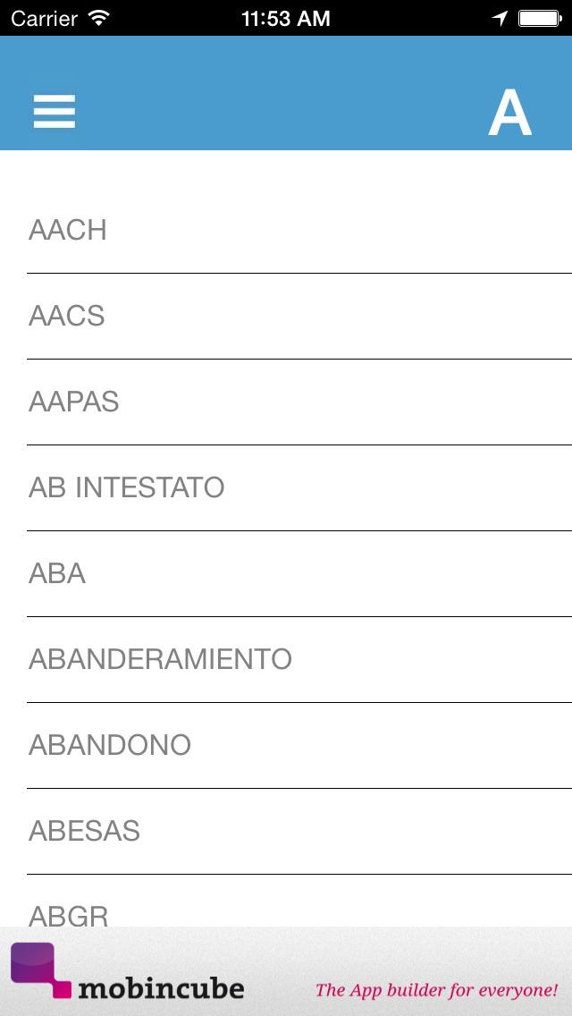 Diccionario de Seguros screenshot 4