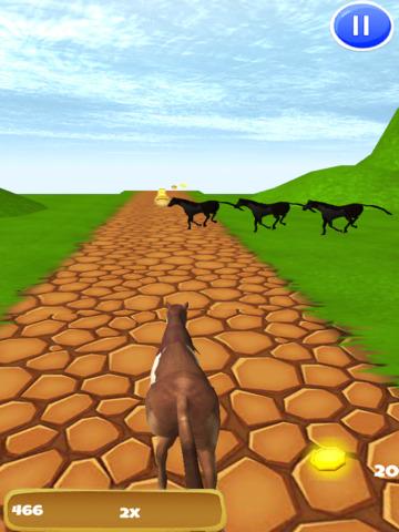 Horse Ride: Wild Trail Run & Jump Game - Pro Edition screenshot 7