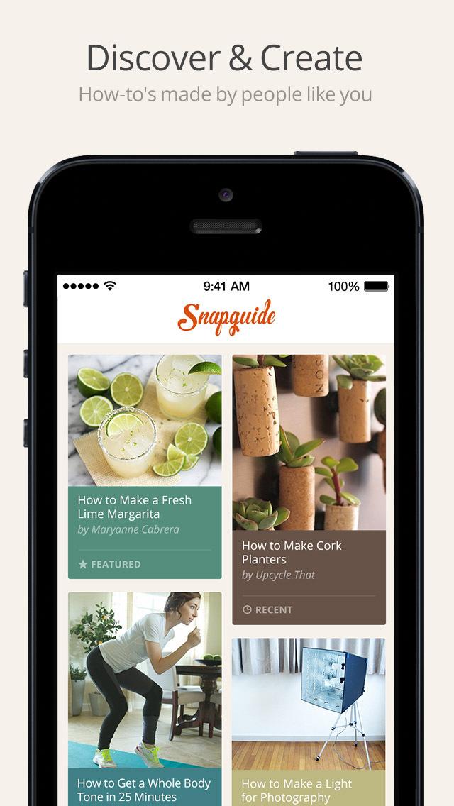 Snapguide - How-tos, Recipes, Fashion, Crafts, iPhone Tips and Lifehacks screenshot 1
