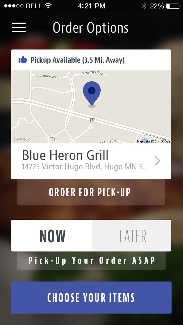 Blue Heron Grill Hugo screenshot 2