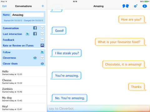 Cleverbot screenshot 8