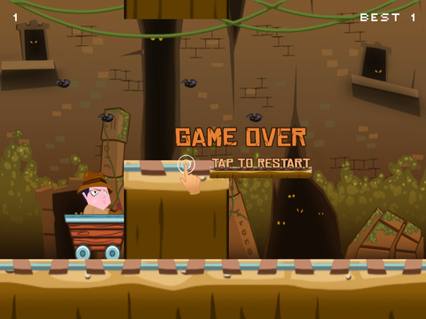 ``Action Race of Jumpy Temple Jones: Mine-Cart Rail Escape Racing Free screenshot 8