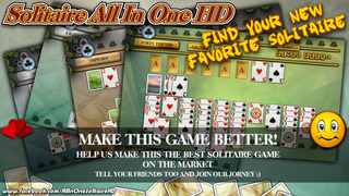Solitaire All In One HD Pro - The Classic Card Game Full Deluxe Puzzle Pack for iPad & iPhone screenshot 4