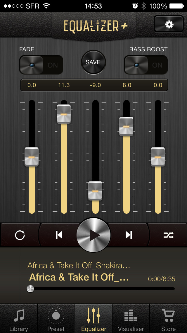 Equalizer+ HD music player screenshot 1