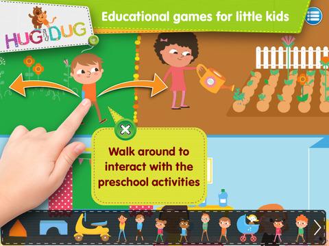 DayCare Explorer - HugDug kindergarten and nursery activity game for little kids. screenshot 2