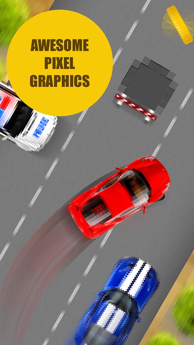 Pixel Traffic - best one tap 8 bit style game screenshot 3