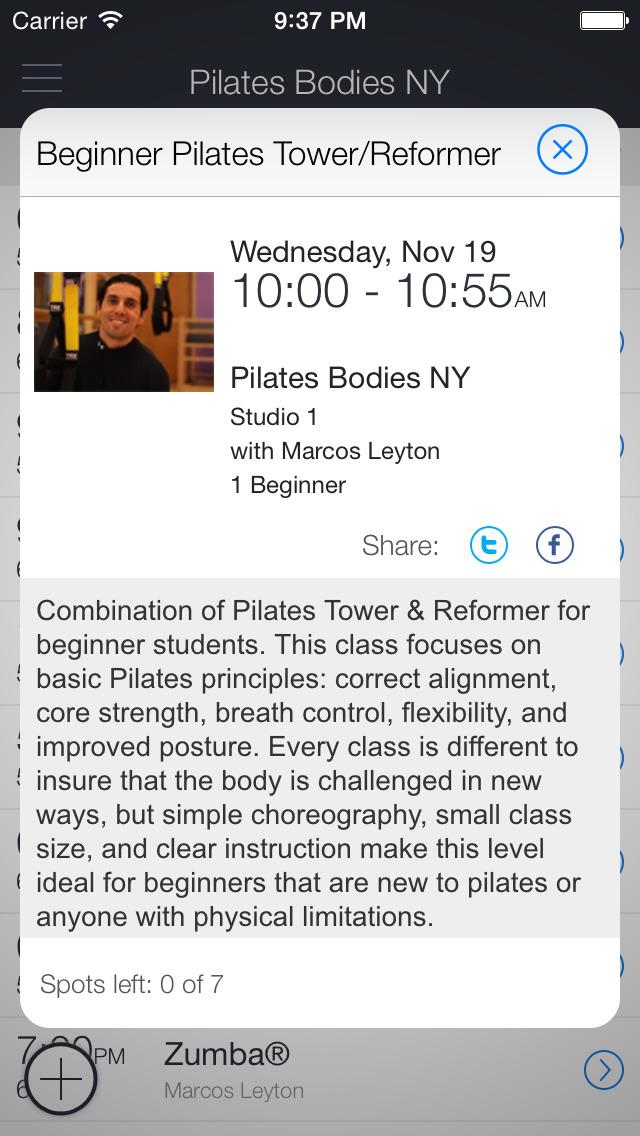 Pilates Bodies NY screenshot 2