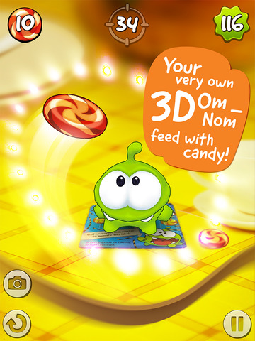 Om Nom: Candy Flick screenshot #1
