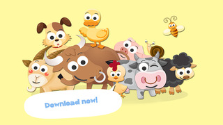 Free Play with Farm Animals Cartoon Jigsaw Game for toddlers and preschoolers screenshot 5