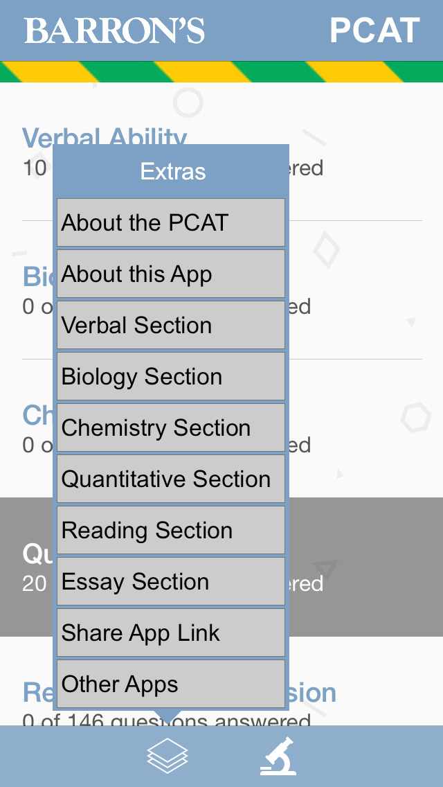 Barron's PCAT Exam Review Practice Questions screenshot 2