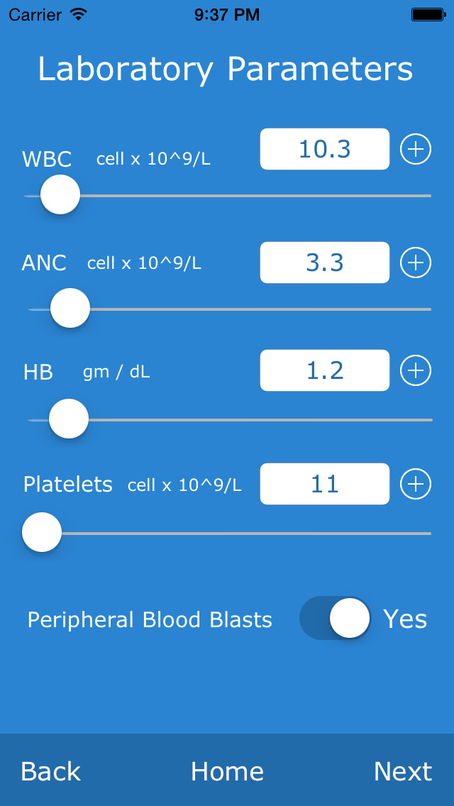 Comprehensive MDS Risk Calculator screenshot 4