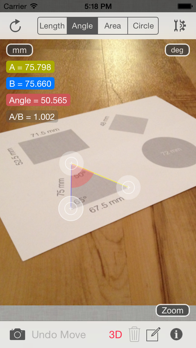 Partometer3D measure on photo screenshot 4
