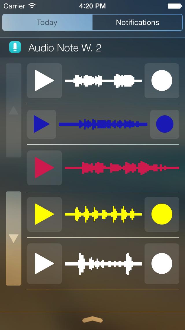 Audio Note Widget screenshot 2