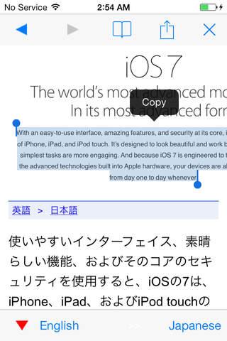 Web Translator - náhled