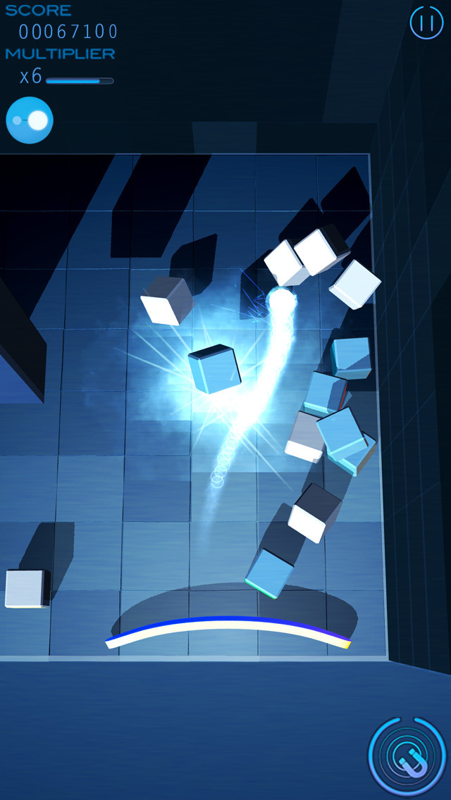 Grey Cubes: Unique 3D Brick Breaker screenshot #1