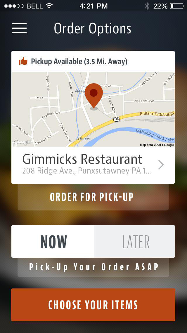 Gimmicks Restaurant screenshot 1
