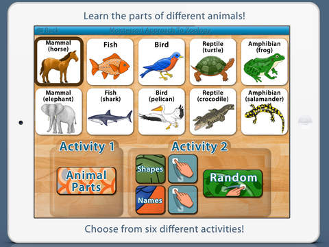 Parts Of Animals Vertebrates - Montessori Zoology screenshot 6
