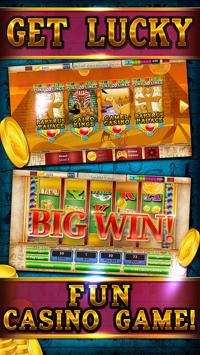 Pharaoh's Party Jackpot Casino - Social Slots Supreme (3D Crack Xtreme Craze) screenshot 3
