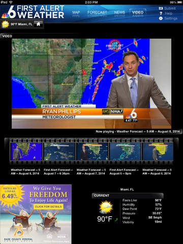 NBC 6 South Florida Weather for iPad screenshot 3