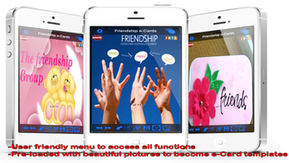 The Best Friendship e-Cards.Customise and Send Friendship Greeting Cards screenshot 1
