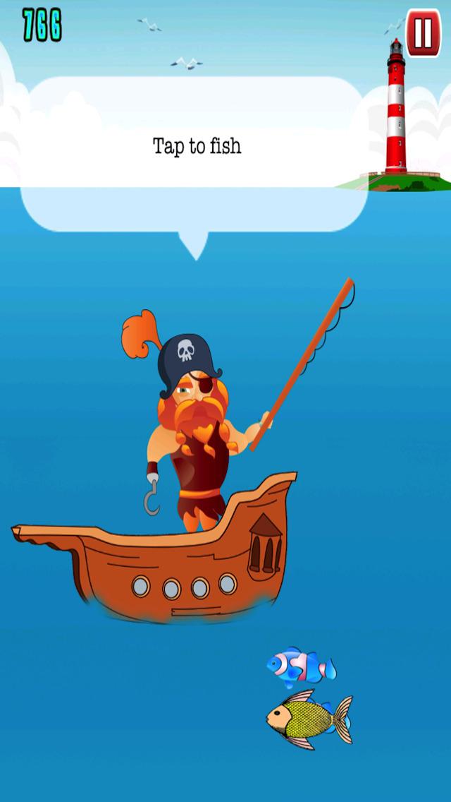 Free Fishing Game Pirate Fishing screenshot 2