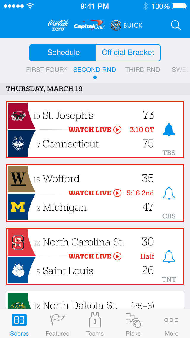 NCAA March Madness Live screenshot 2