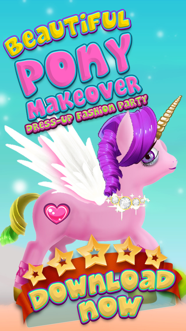 A Beauty Pony Dress-Up Makeover My Magic Fashion Friendship Salon Party screenshot 1