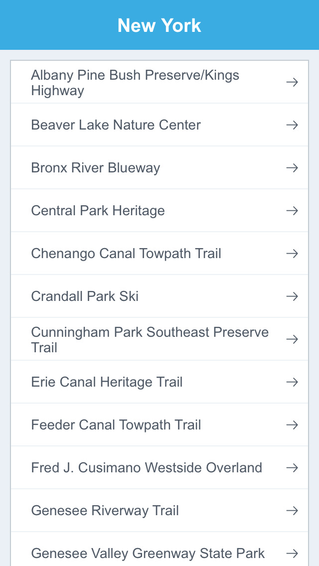 New York National Recreation Trails screenshot 2