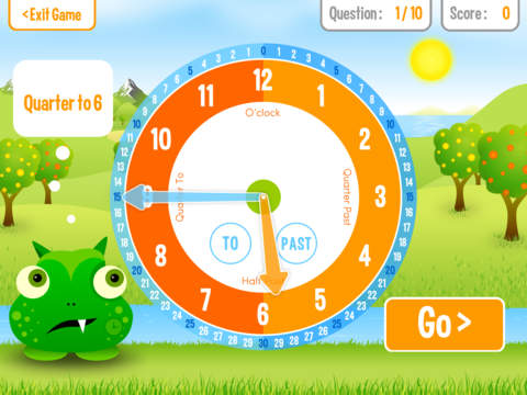 Squeebles Tell The Time screenshot #1