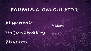 Formulae Calculator screenshot 1