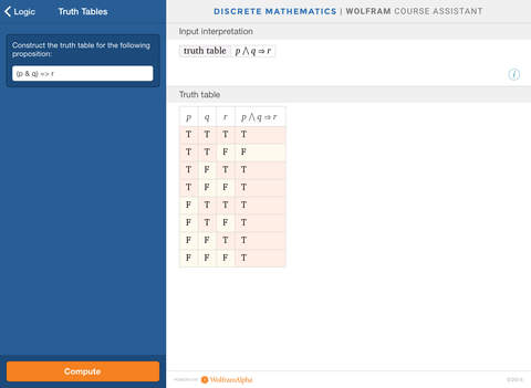 Wolfram Discrete Mathematics Course Assistant screenshot 7