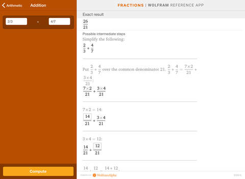 Wolfram Fractions Reference App screenshot 7