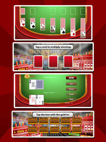 `Ace Win Royal Gold Poker Casino Coin Jackpot Slots - Slot Machine with Blackjack, Solitaire, Roulette, Bonus Prize Wheel screenshot 7