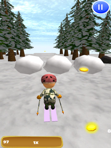 A Downhill Snow Skier: 3D Mountain Skiing Game - Pro Edition screenshot 7