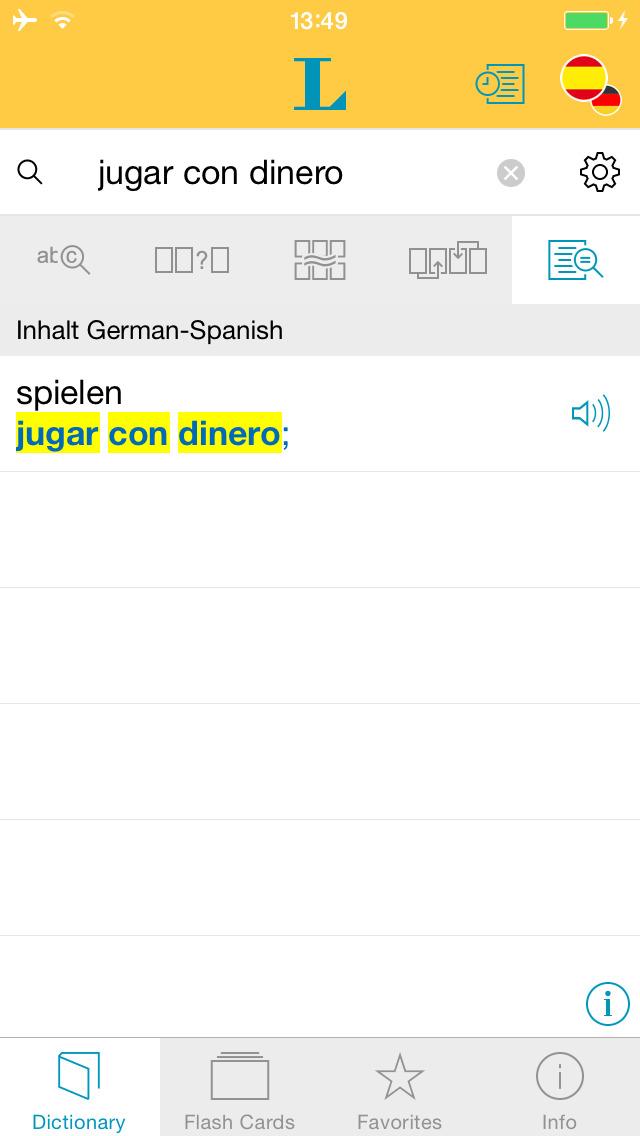 Big German Spanish Dictionary screenshot 2
