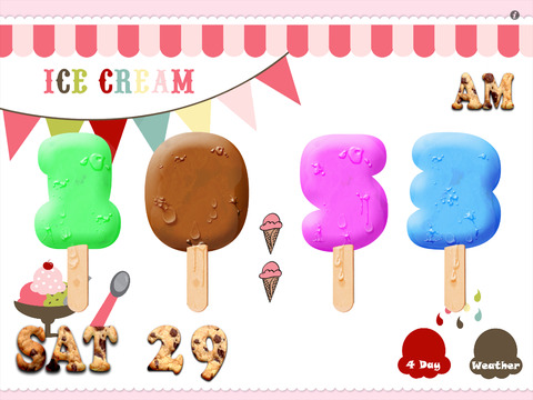 Ice Cream Alarm Clock HD screenshot 1