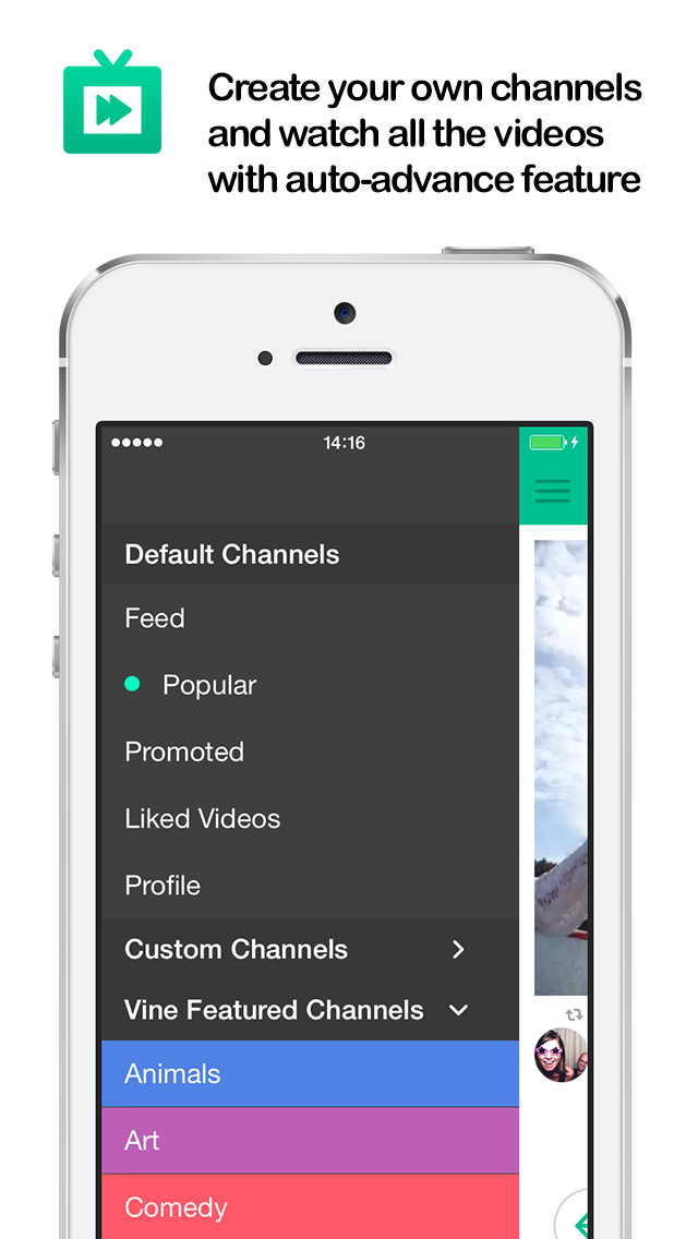 TV for Vine : (Watch Best Vine Videos , Create Your Own Video Channel , Vines Non-Stop -  is the Best Way to Watch Cool Vines) screenshot 2