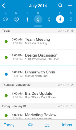 UpTo Calendar - Syncs with Google Calendar, iCloud, Outlook and more screenshot 1