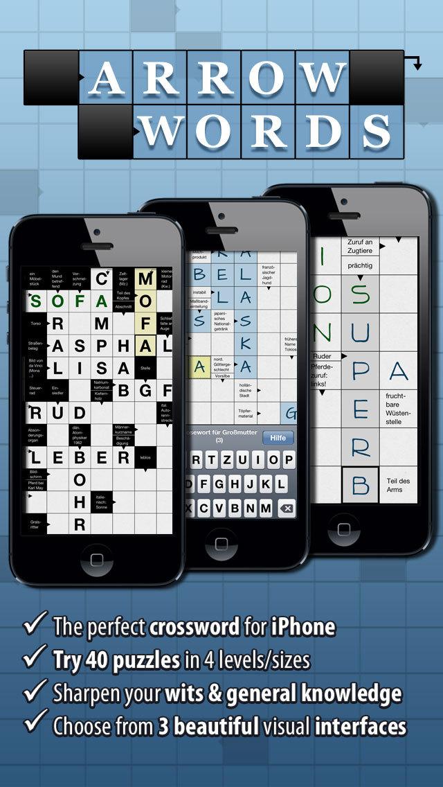 Crossword: Arrow Words - the Free Crosswords Puzzle App for iPhone screenshot 1