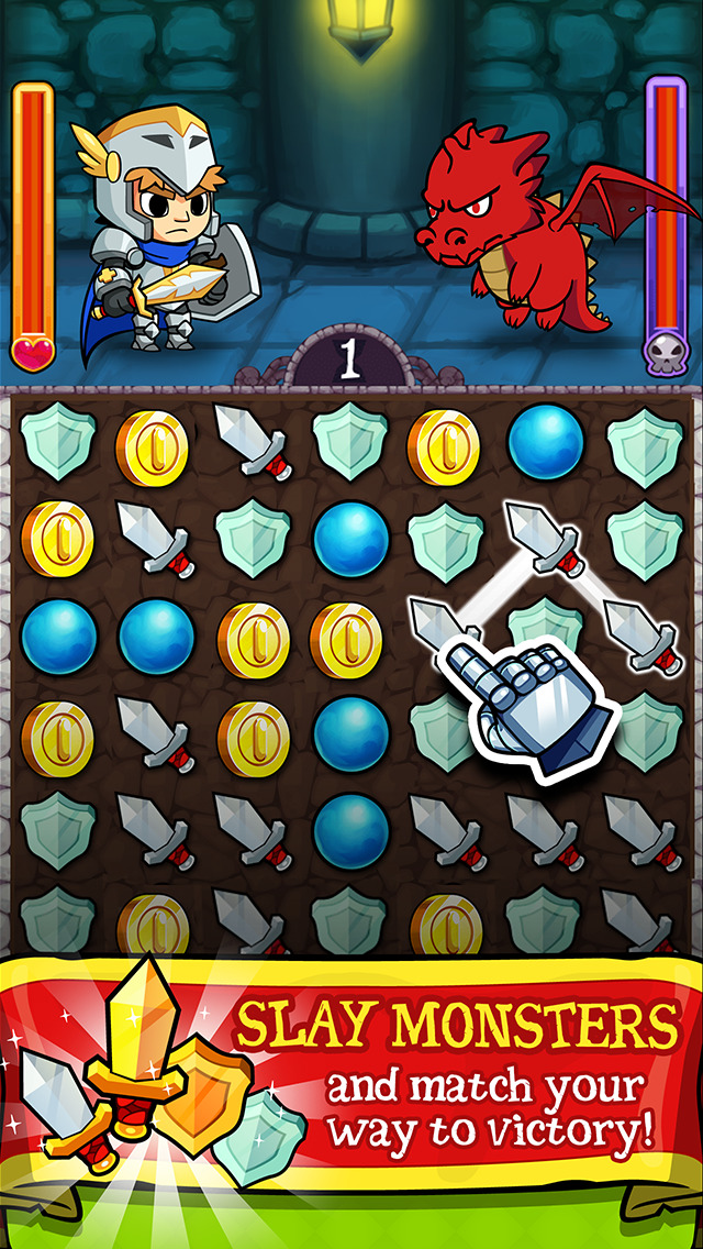 Puzzle Lords - Match-3 Battle RPG Game image #1