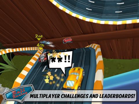 Rail Racing Free screenshot #3