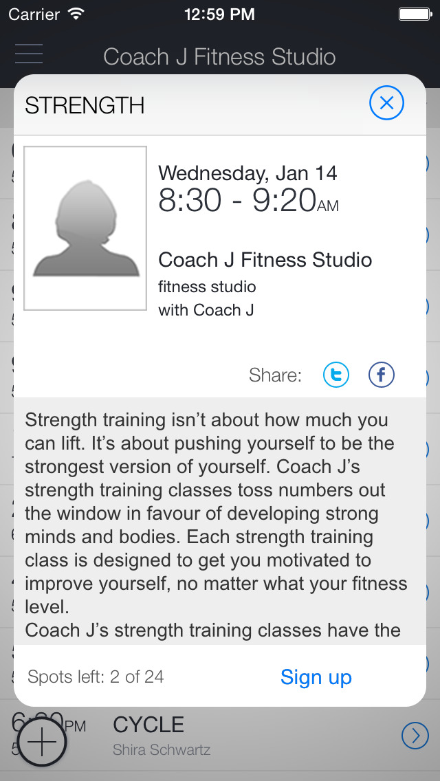 Coach J Fitness Studio screenshot 2