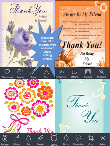 Thank You Cards Maker With Photo Editor.Customise and Send Thank You e-Cards screenshot 8