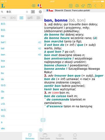 Słownik CLASSIC polsko <-> francuski screenshot 9