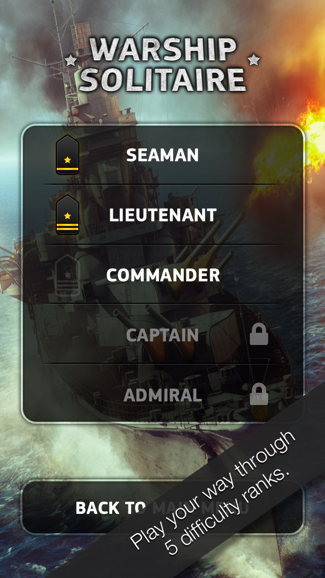 Warship Solitaire screenshot 3