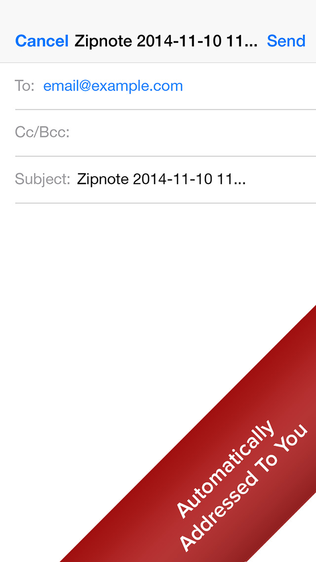 Zipnote - The Fastest Way To Email Yourself screenshot #2