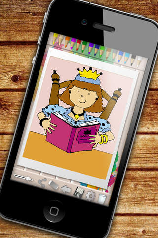 Princesses Coloring Book - color and paint the pri - náhled