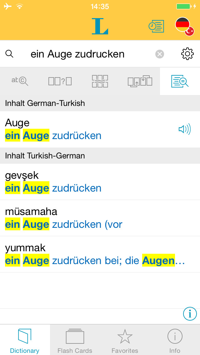 Big German Turkish Dictionary screenshot 2